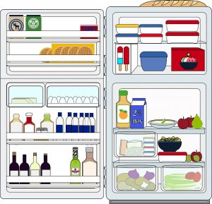 fill up the refrigerator with healthy food