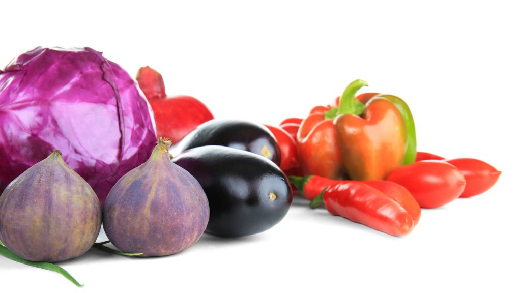 red and purple vegetables